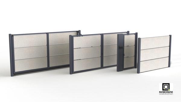 Modularer Dekormur Zaunfeld-Set
