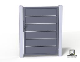 Wicket und Aluminium horizontale Tür 1
