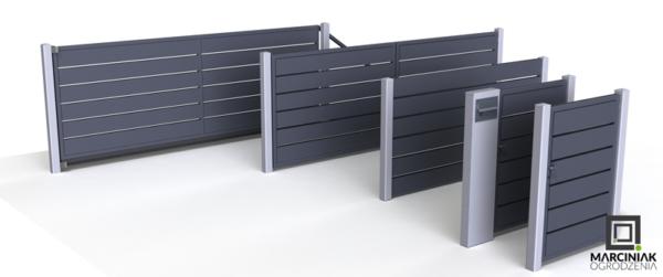 Wicket und Aluminium horizontaler Zaun Zaun-Set