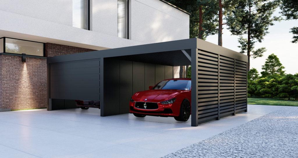 Doppelcarport inklusiv Garage