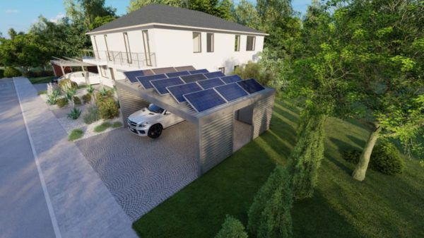Carport 600x600 fur 12 Solar Module