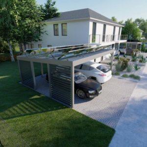 Carport 400x600 fur 8 Solar Module
