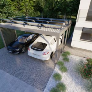 Carport 300x600 fur 6 Solar Module